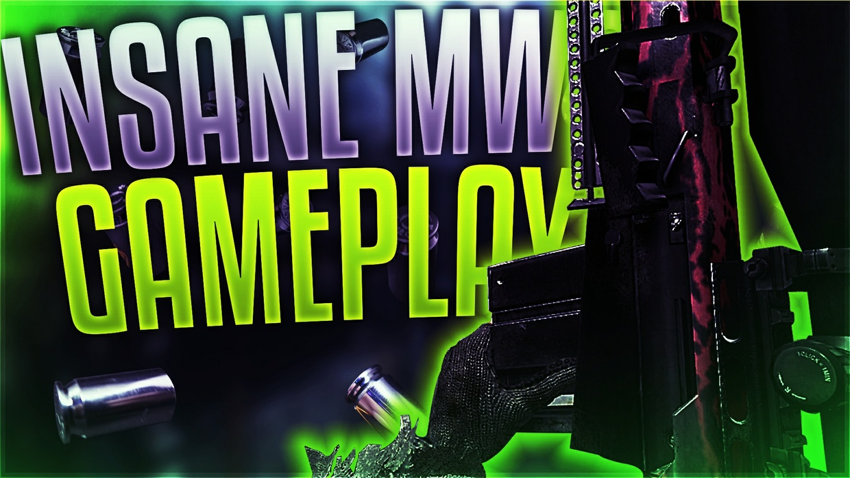 MW2 and Bo2 Sniper Thumbnail Template