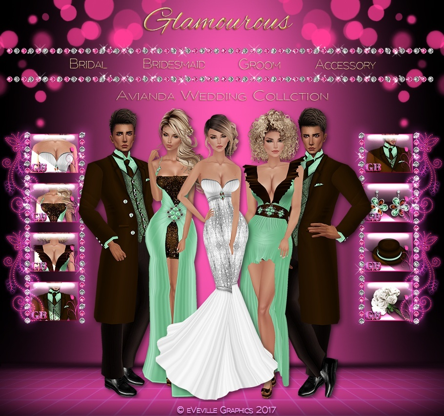 Avianda Wedding Collection ~Full Wedding Set Bridal, Bridesmaids, and Groom~-CATALOG ONLY!!!