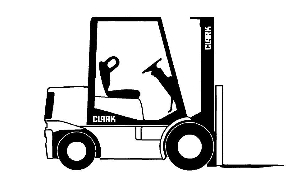 Clark SM-614 PWC 30, PWT 7 Forklift Service Repair Manual Download