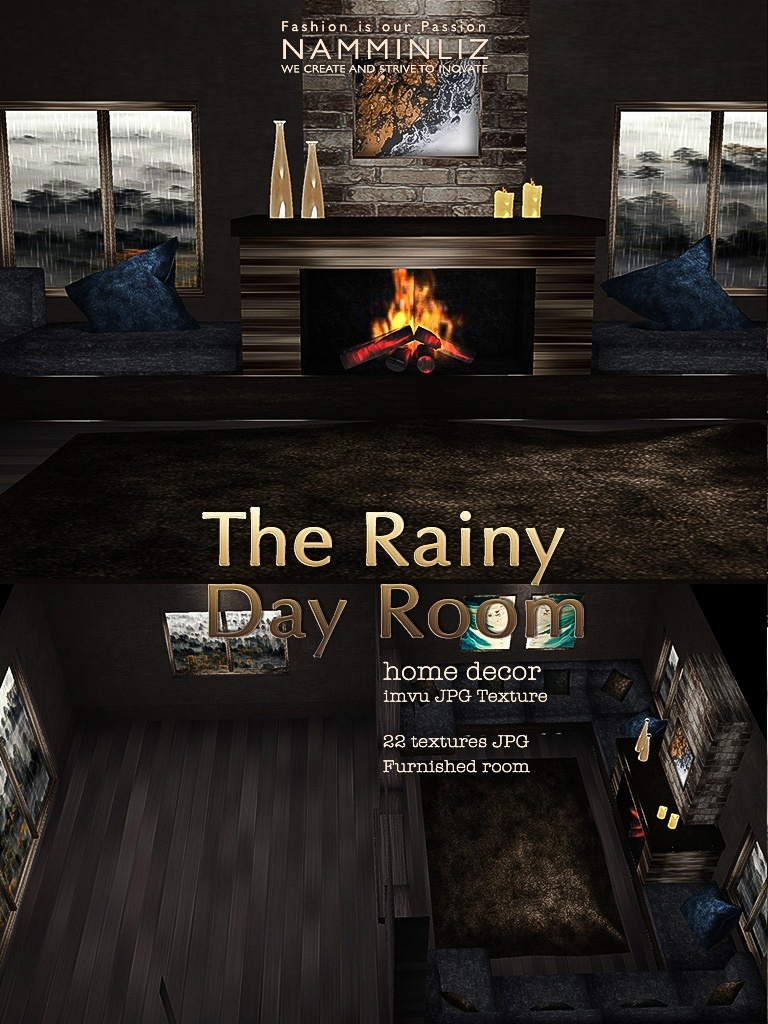 The Rainy Day Room imvu Home decor JPG Texture 22 textures JPG Furnished