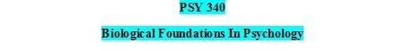 PSY 340 Week one Quiz (100% Correct)