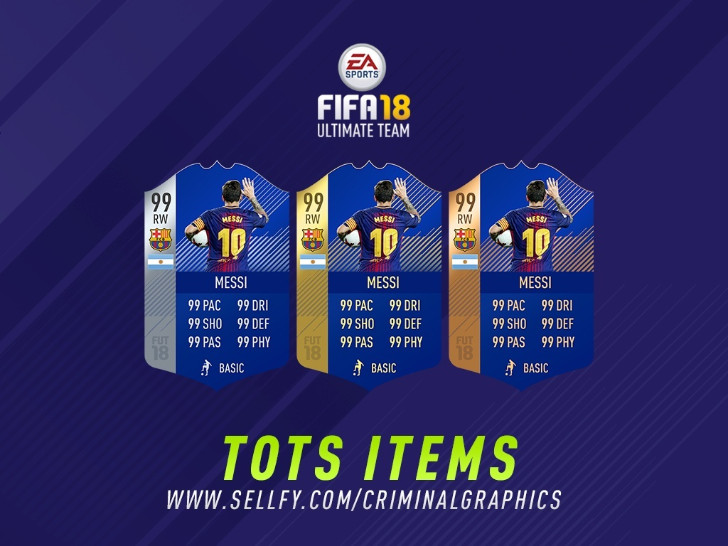 FIFA 18 TEAM OF THE SEASON ITEMS