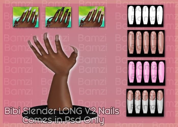 Bibi Slender v2 Nails Psd Only