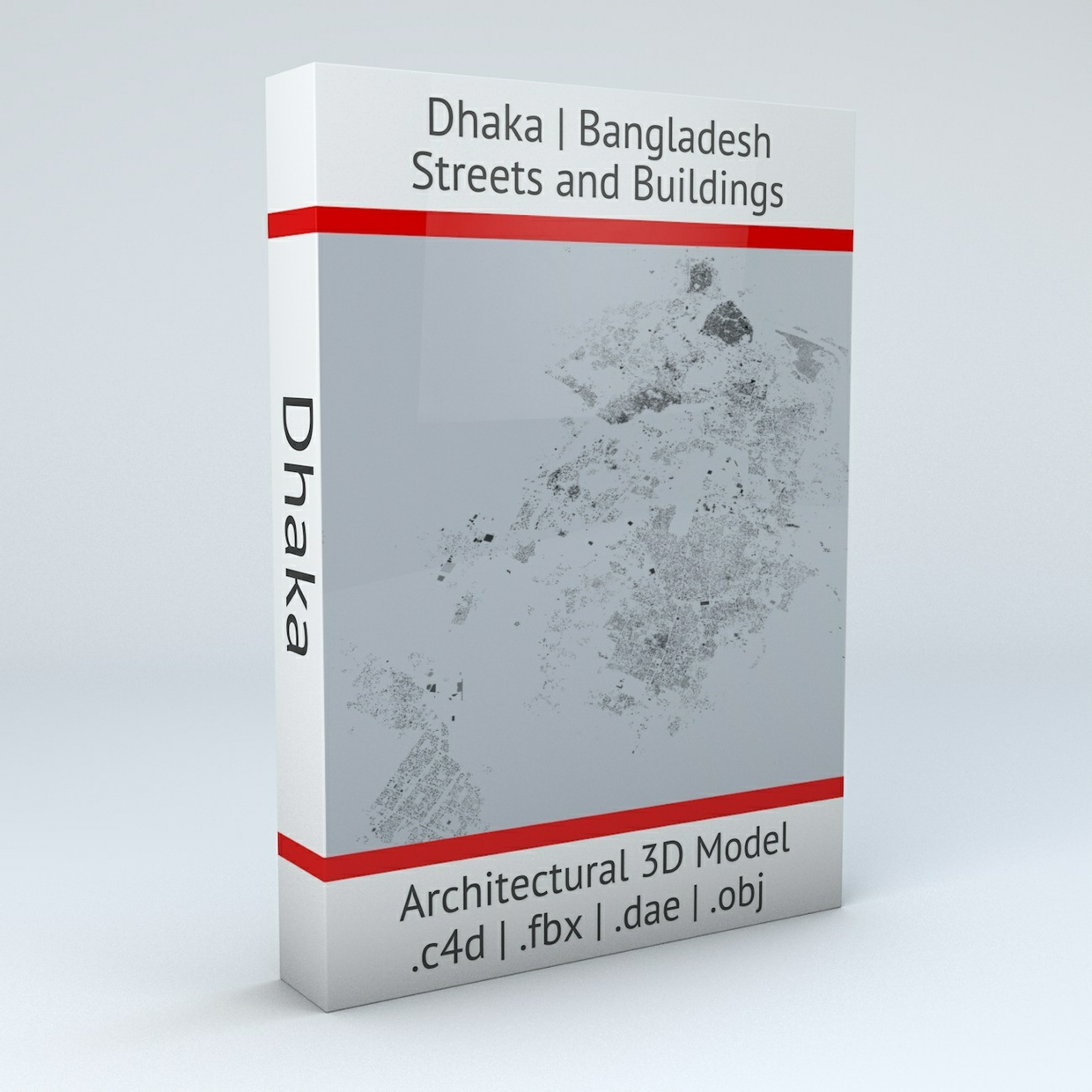 Dhaka Streets and Buildings Architectural 3D Model