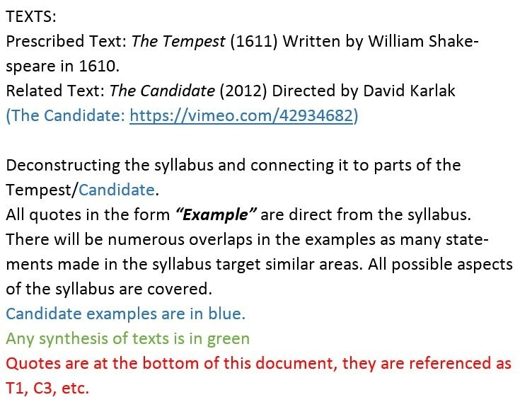 possible essay questions for the tempest The tempest, like many of shakespeare's plays, has continued to elicit a broad range of scholarly interpretations and has eluded any conclusive judgments as to its dominant themes or the nature of its characters.