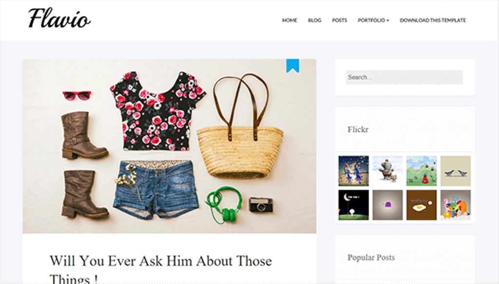 Flavio Simple Blogger Template Premium Version