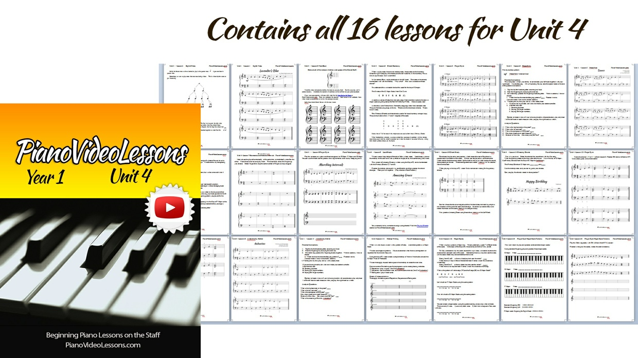 Unit 4 [Year 1 PianoVideoLessons]