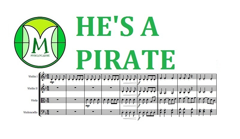 He's a Pirate | Klaus Badelt | String Quartet | Score and Parts | Download