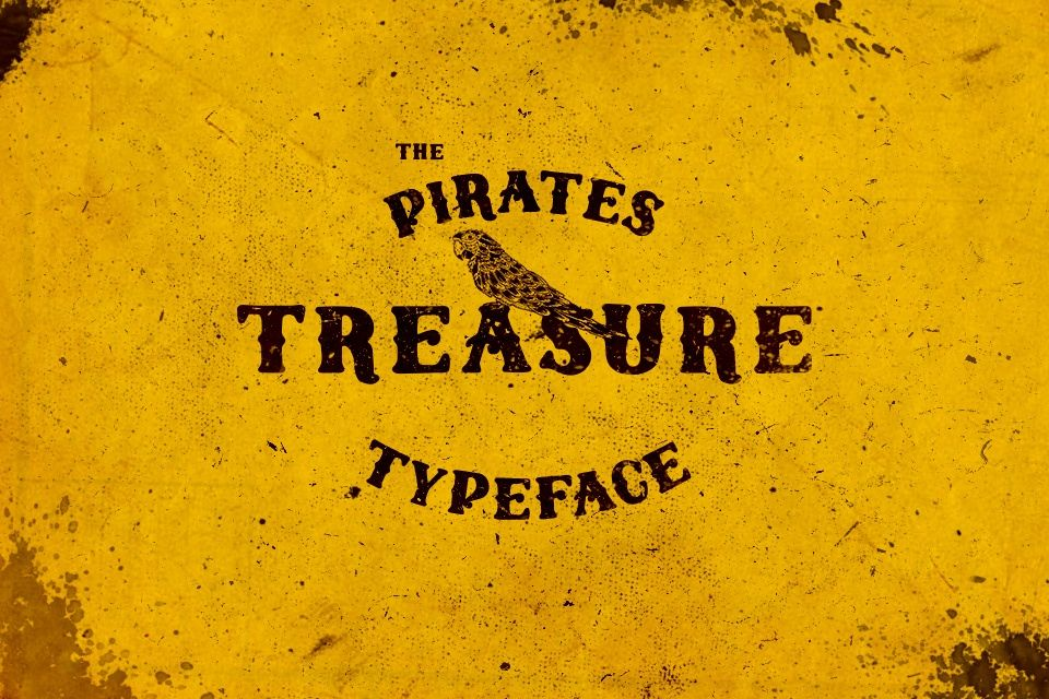 The Pirates Treasure - A handmade typeface
