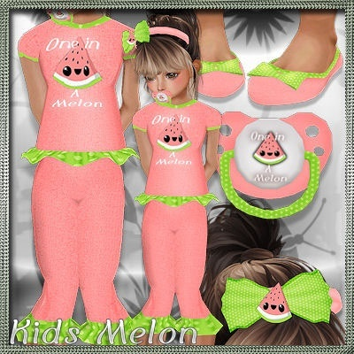 2018 Kids Melon Bundle Psd and Pngs