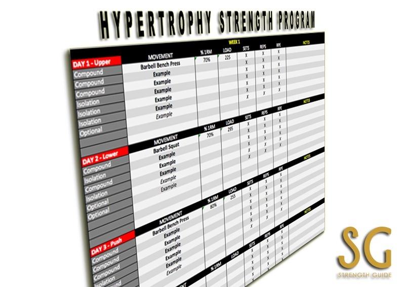 Hypertrophy Strength Program