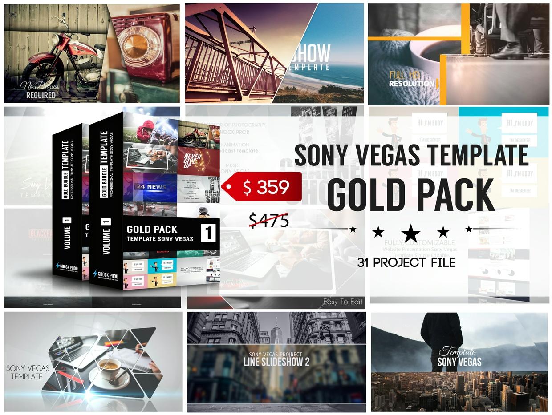 Gold Pack | Bundle Template Sony Vegas Volume 1