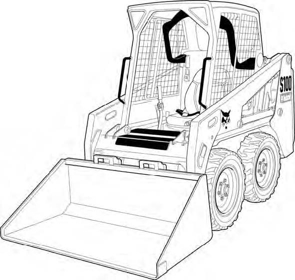 Bobcat S100 Skid-Steer Loader Service Repair Manual Download(S/N A8ET20001 & Above)