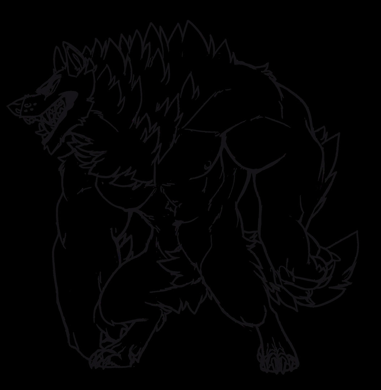 Werewolf lineart