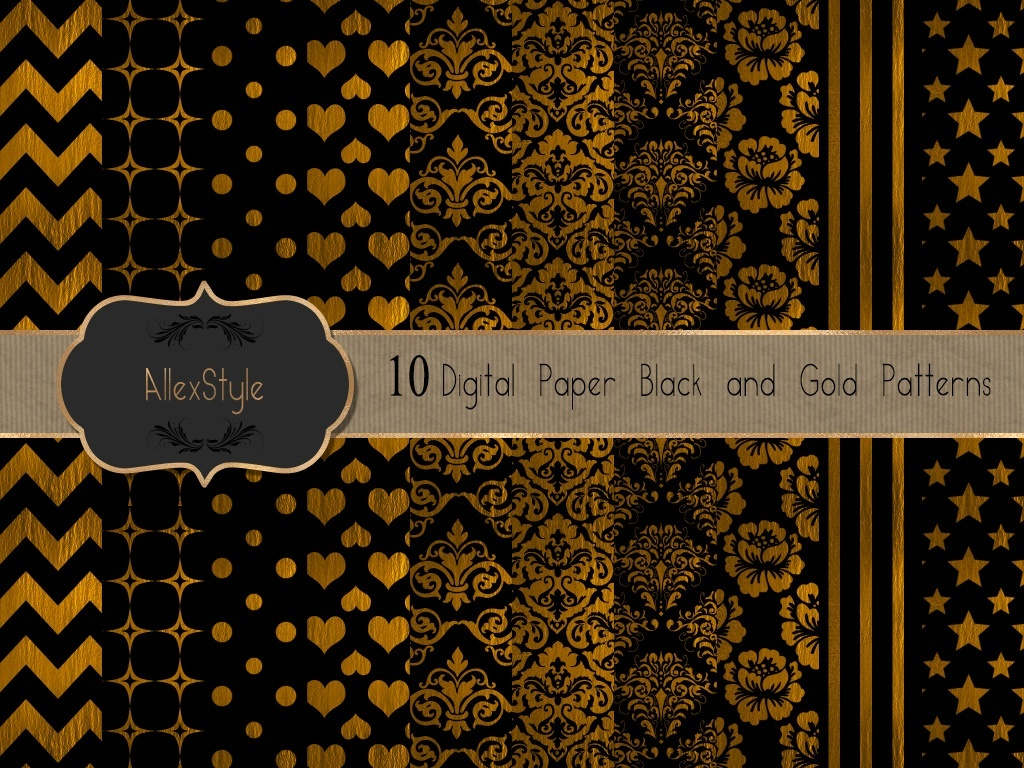 Gold and Black Patterns