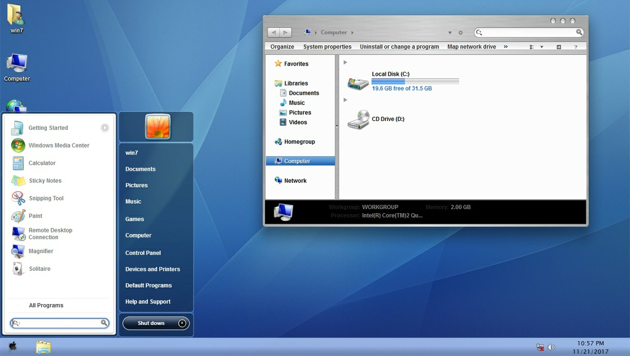 Mac OSX Tiger ThemePack for Win 7/10RS3