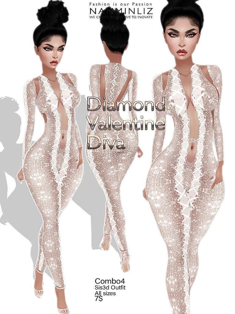 Diamond Valentine Diva combo4 outfit Sis3d JPG Texture