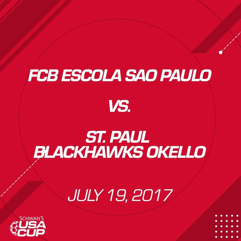 Boys U13 Gold - July 19, 2017 - FCB Escola Sao Paulo vs St. Paul Blackhawks Okello