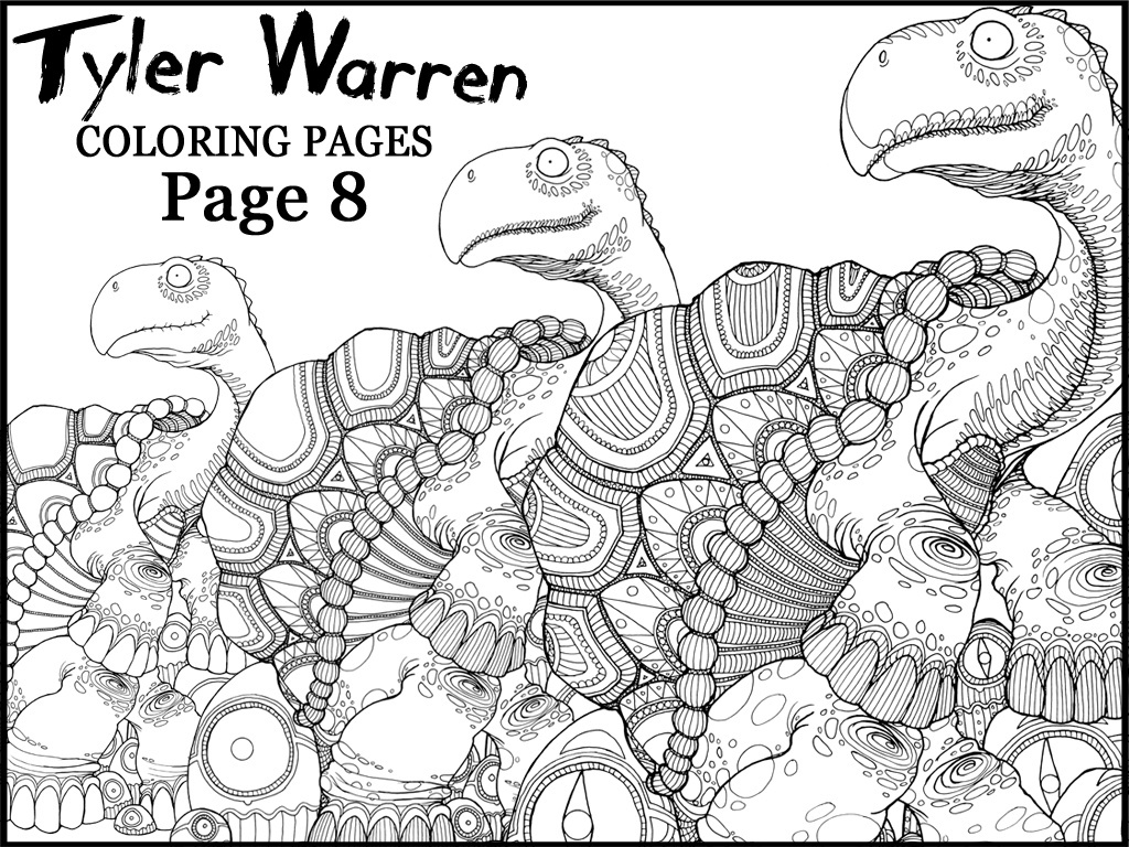 Page 8 - Tyler's Printable Coloring Pages