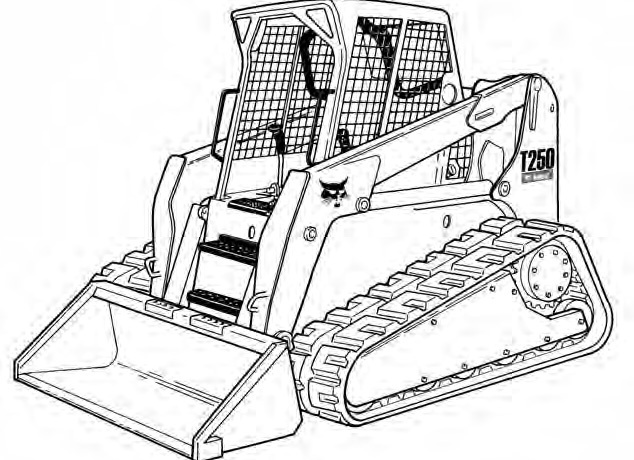 Bobcat T250 Compact Track Loader Service Repair Manual Download(S/N A5GS11001 - A5GS19999...)