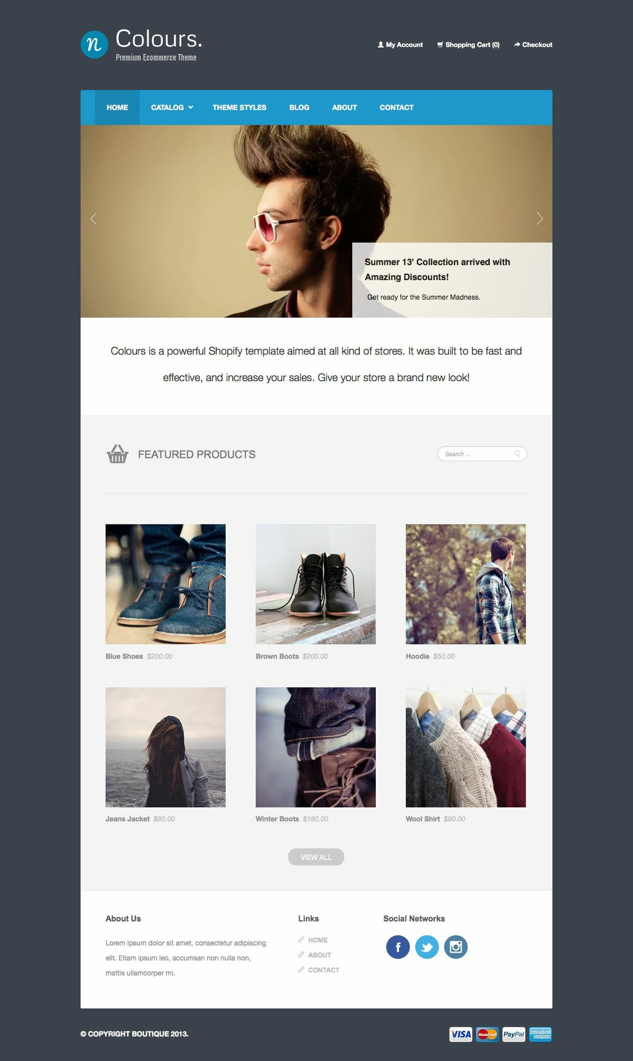 nColours. - Ecommerce Template
