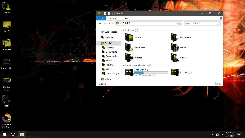 HUD Machine Yellow IconPack