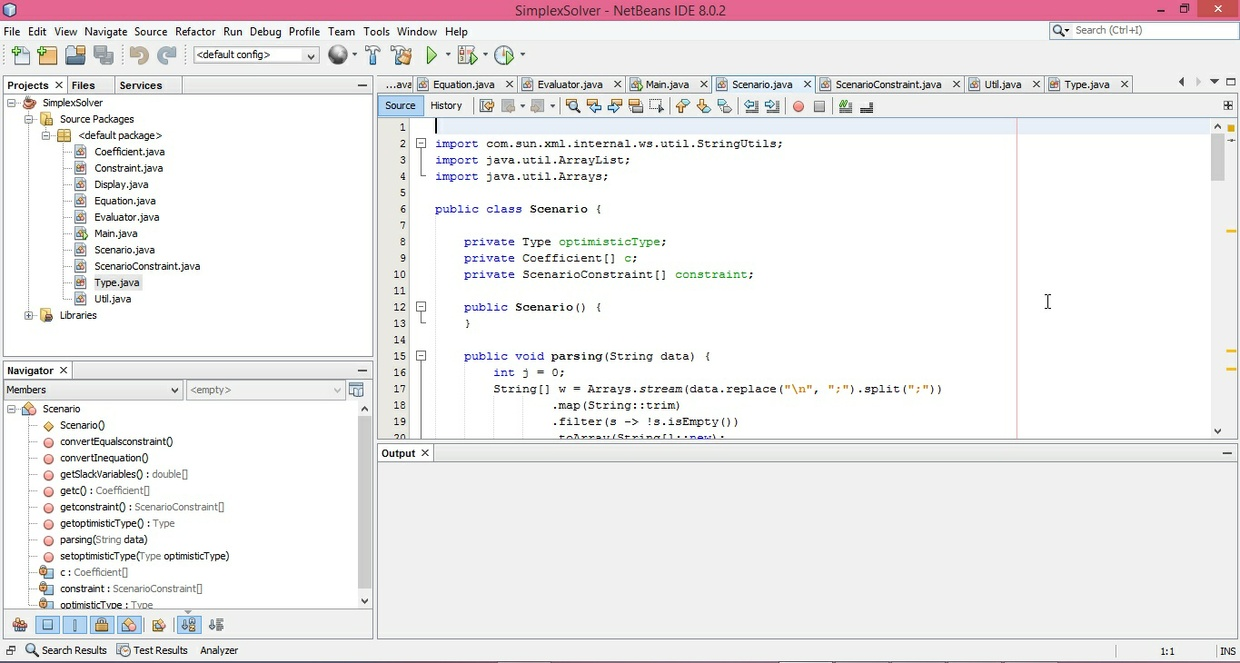 [SOLVED] Program returns a primary simplex problem of a given optimum solution in Java
