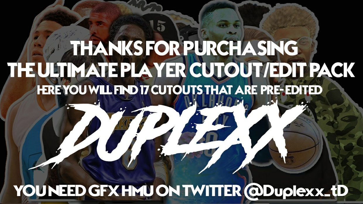 ULTIMATE PLAYER CUTOUT/EDIT PACK!!!!!!!!!!!!!!!!!!