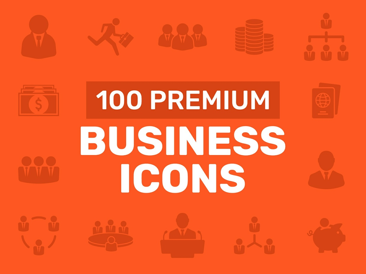100 Premium Business Icons