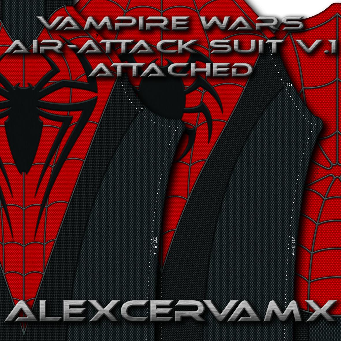 AlexCerva's SM Vampire Wars AirAttack Suit v1 Dye Sub Pattern