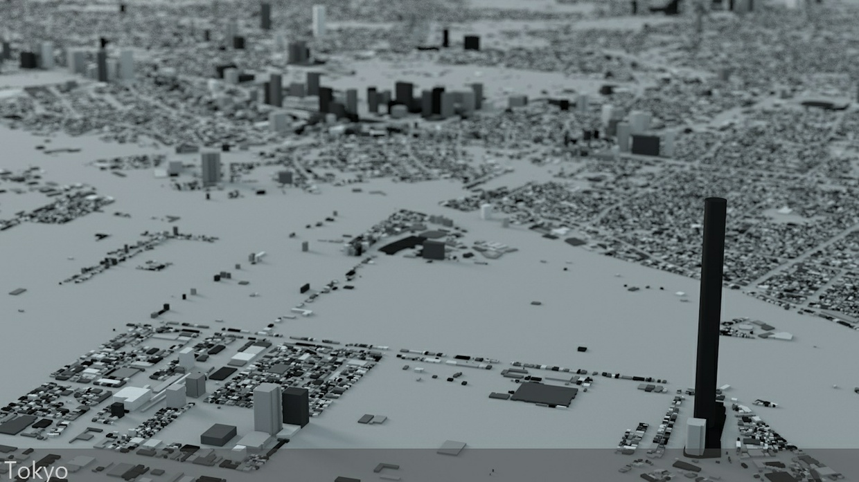 Tokyo Streets and Buildings Architectural 3D Model