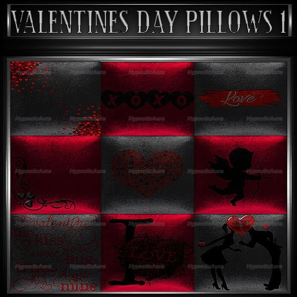 A~VALENTINES DAY PILLOWS 1-30 TEXTURES