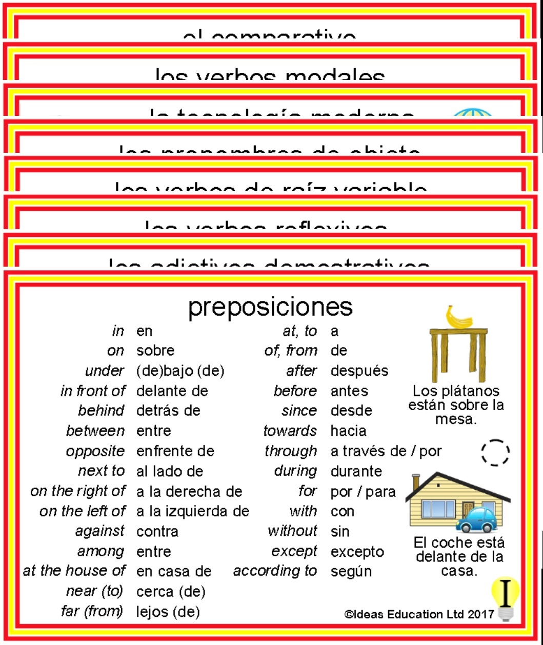 Spanish Pocket Cards, set 7