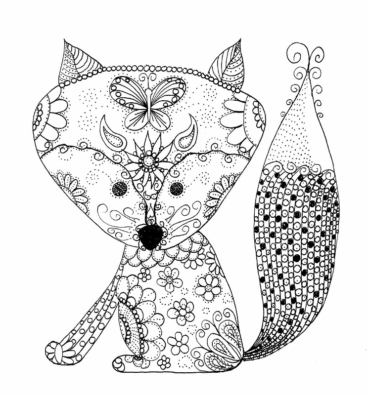 Baby Fox Coloring Page