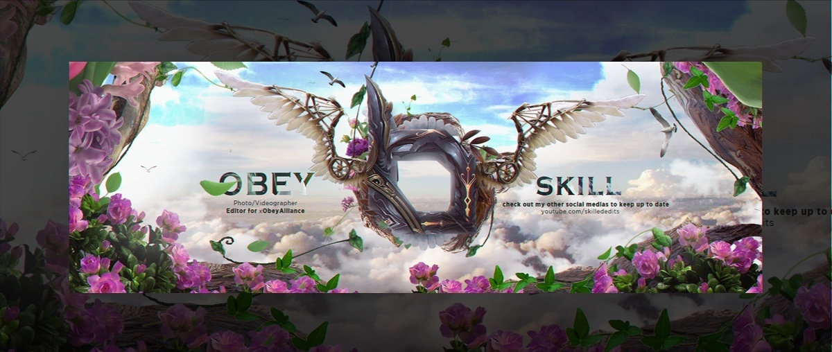 Header for Obey Skill | Template PSD
