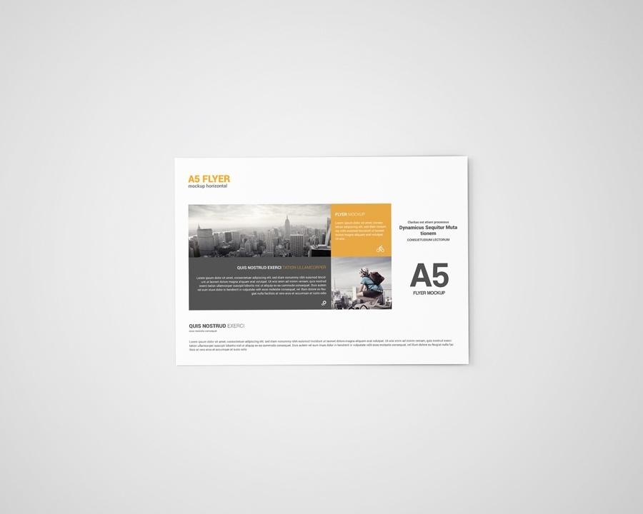 A5 Landscape Flyer Mockup
