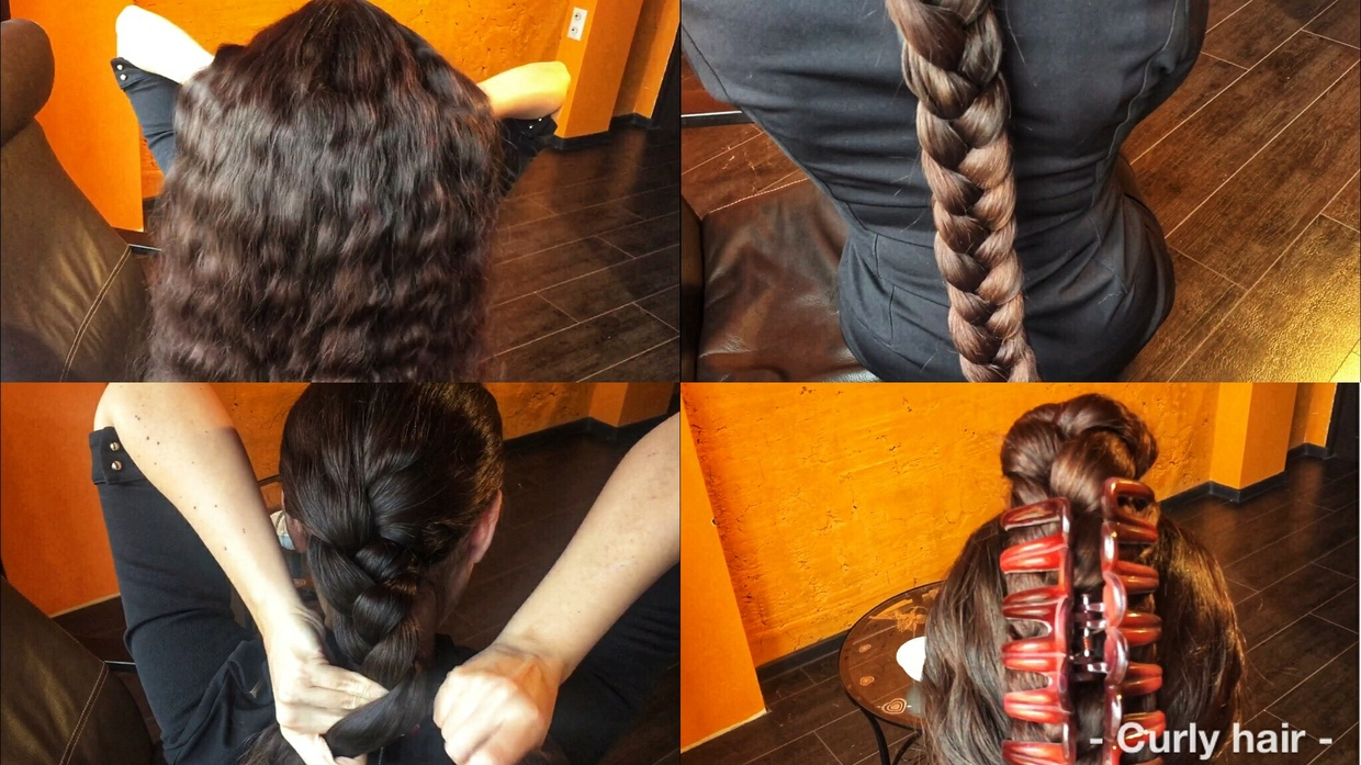 Curly hair braid from Mila 20 minutes