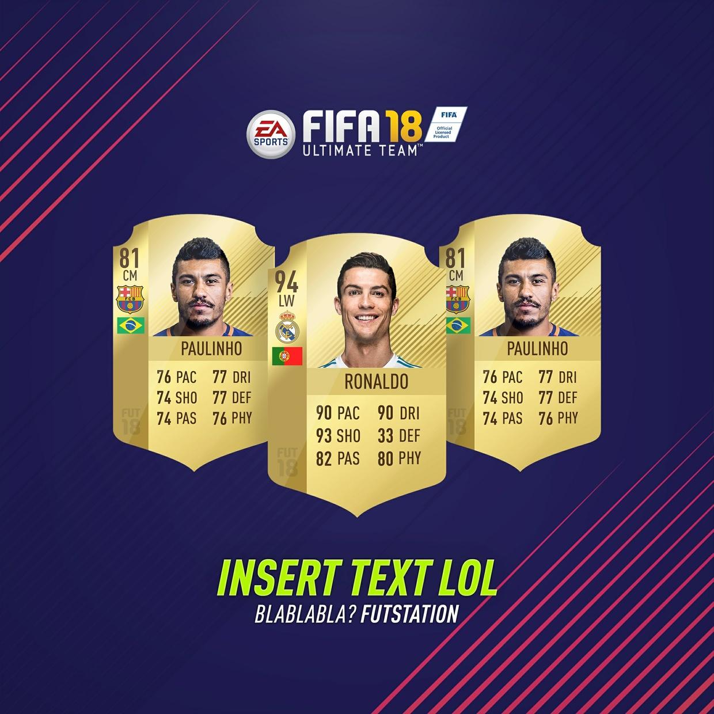 5 FIFA 18 INSTAGRAM EDIT PSD'S