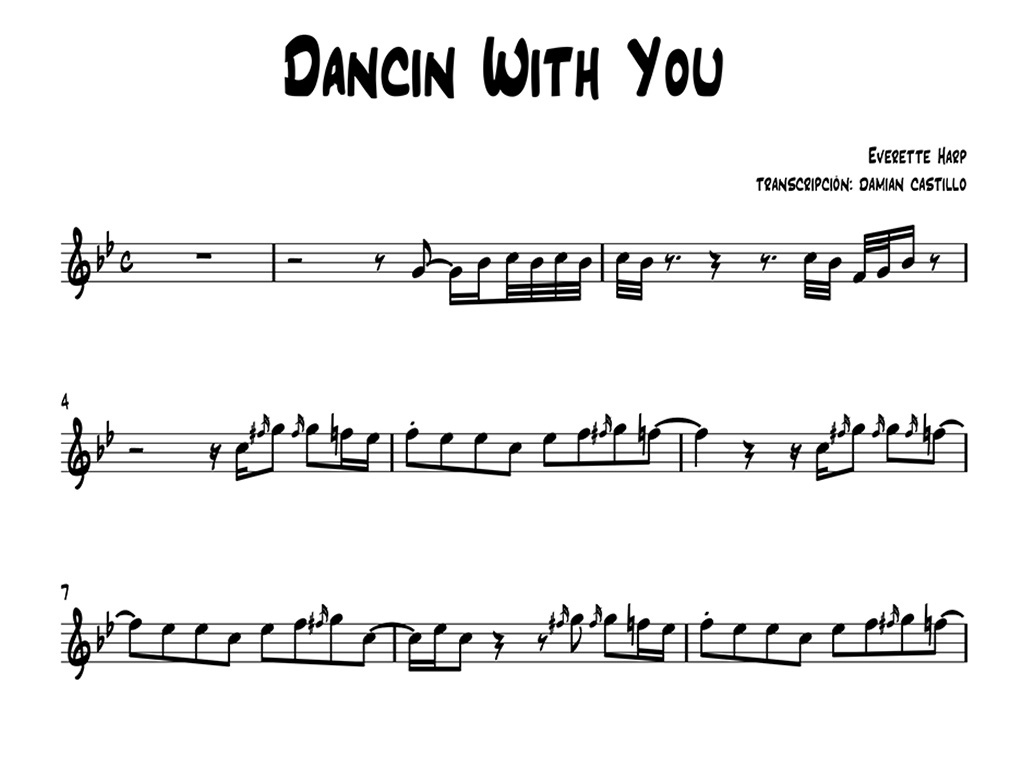 "Everette Harp - ""Dancin With You"" - Sax alto."