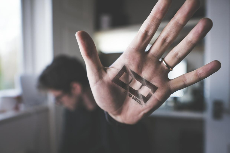 Hand Stamp Logo Mockup by DOD Media