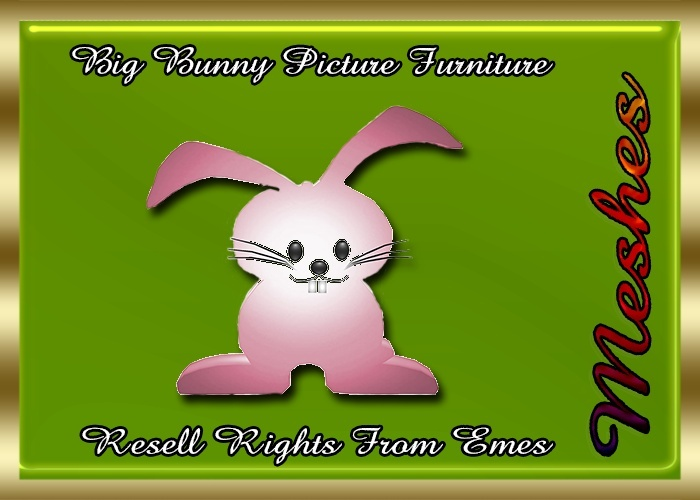 Big Bunny Picture Furniture Catty Only!!!