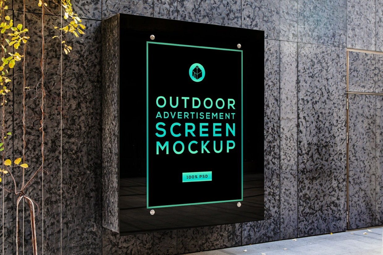 Outdoor Advertising Screen Mock-Ups 5