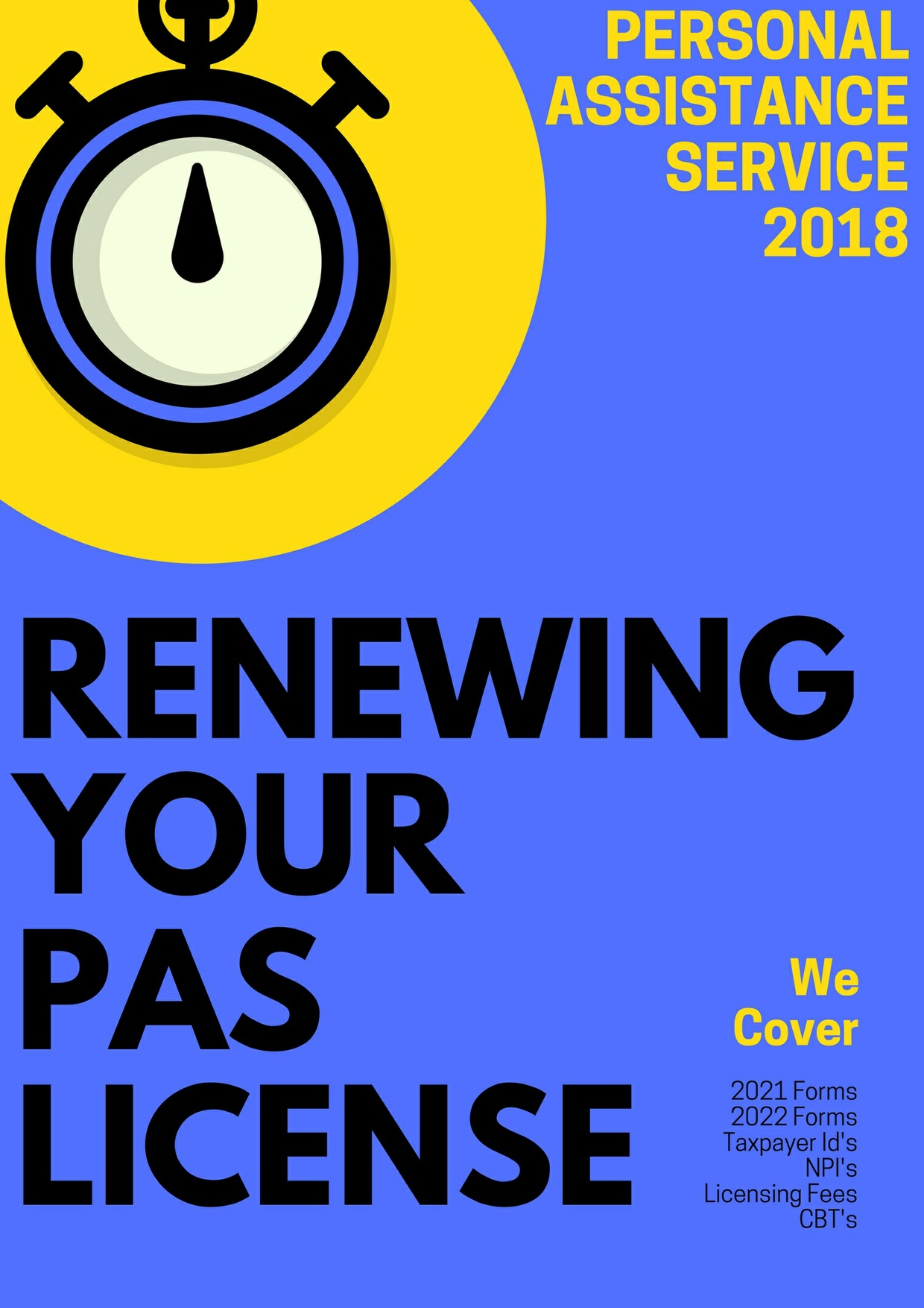 Is Your PAS License Up for Renewal  In 2018?
