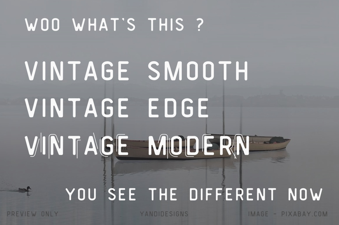 Vintage Modern Typeface - PWYW