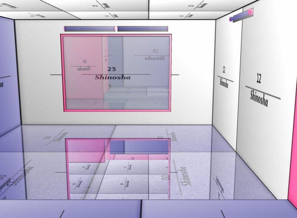 Fluorescent Mirror Room Mesh