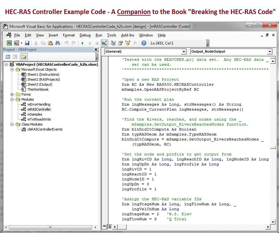"HECRASController Code-Companion Workbook to ""Breaking the HEC-RAS Code"""