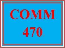 COMM 470 Week 3 Virtual Communication Channel Worksheet