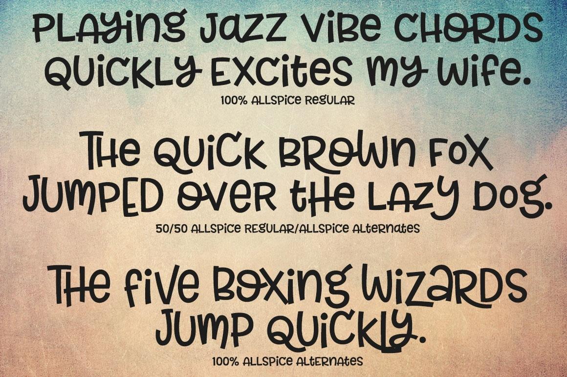 Allspice: a fun mixed-case font!