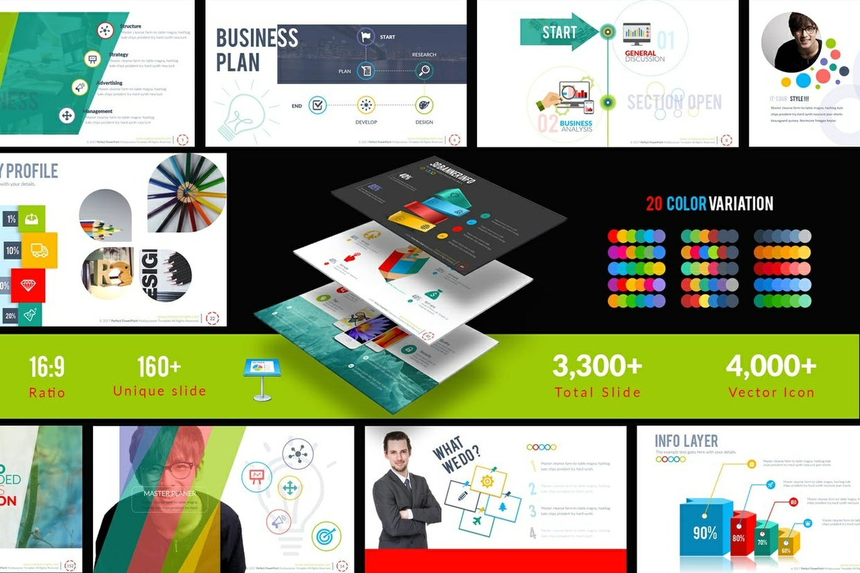 1200+ Slide Page Aweasome for Business, Marketing