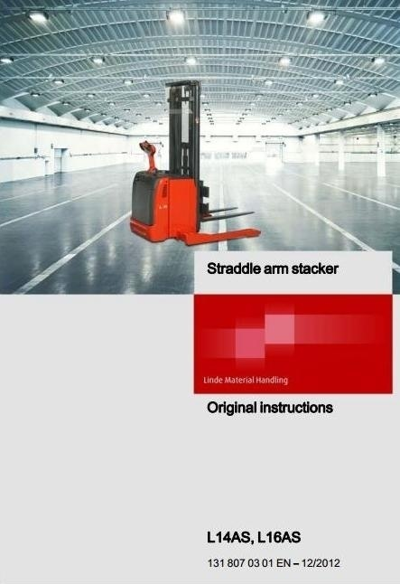 Linde Pallet Truck Type 131: L14AS, L16AS Operating Instructions (User Manual)